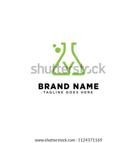 Initial Y Logo Inspiration Type Science Stock Vector Royalty Free