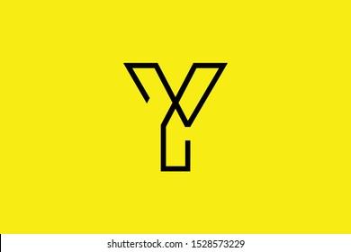 Initial Y YY YX XY modern monogram and elegant logo design, Professional Letters Vector Icon Logo on black background.