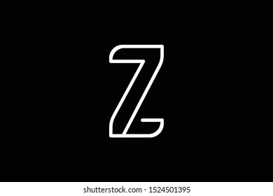 Initial Z Flat Letter Logo Design Vector Template. Monogram and Creative Alphabet Z Letters icon Illustration.