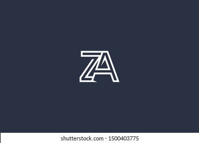 Initial ZA AZ Letter Logo Design Vector Template. Monogram and Creative Alphabet Z A Letters icon Illustration.