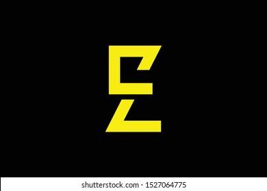 Initial ZC CZ EZ ZE modern monogram and elegant logo design, Professional Letters Vector Icon Logo on black background.