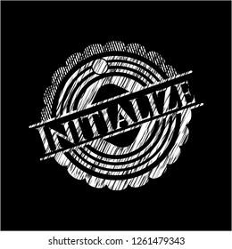 Initialize chalkboard emblem