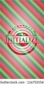 Initialize christmas badge.