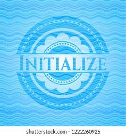 Initialize light blue water wave style emblem.
