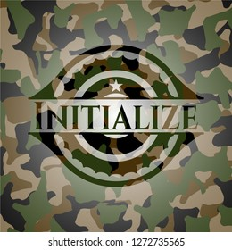 Initialize on camo texture