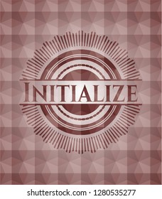 Initialize red seamless badge with geometric pattern.