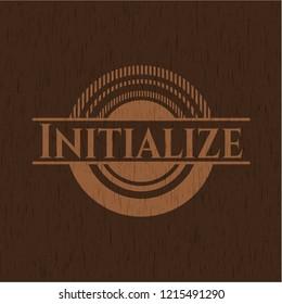 Initialize vintage wood emblem