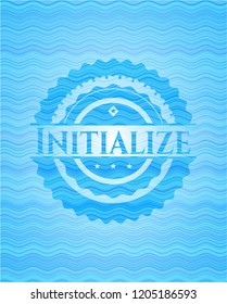 Initialize water concept emblem background.