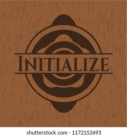 Initialize wooden emblem. Retro