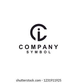Initial/Monogram CI IC logo design inspiration
