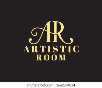 initials AR logo designs vector