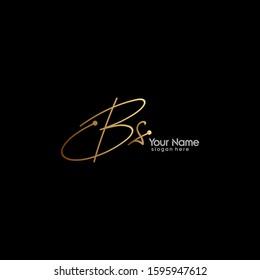 Initials Bs Logo Creative Template Sign Vector