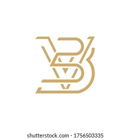 initials BV vector design logo