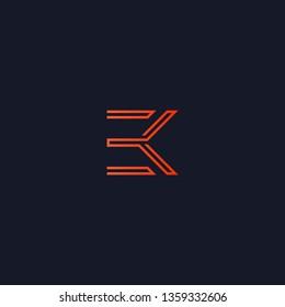 Initials EK/3 Monogram Logo