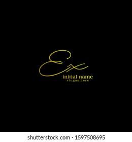 Initials Ex Logo Creative Template Sign Vector