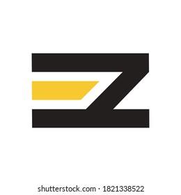 initials EZ logo design for company
