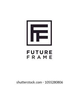 Initials FF Square Frame logo design inspiration