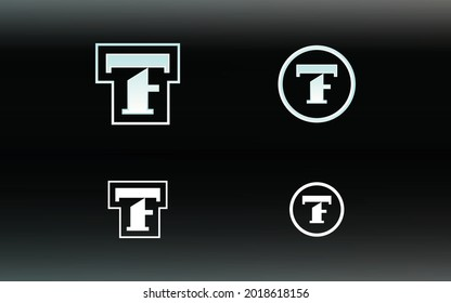 Initials FT or TF logo with a bright color is suitable for E sports teams and others