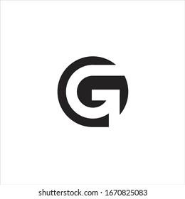 initials G logo and circle design