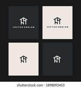 initials hh home logo vector icon illustration