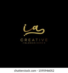 Initials Ia Logo Creative Template Sign Vector