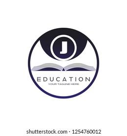 initials J letter , Education logo template , vector logos for business  ,element ,illustration 8e54a6e78b3c