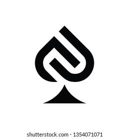 Initials JN for Casino / poker Logo design