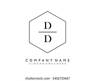 initials letter DD handwriting logo vector template