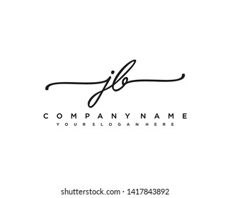 initials letter JB handwriting logo vector template