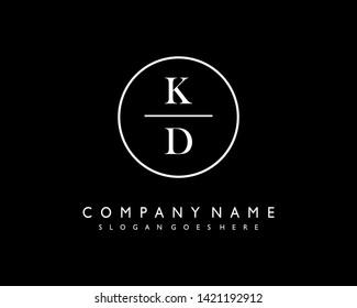 initials letter KD handwriting logo vector template