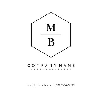 initials letter MB handwriting logo vector template