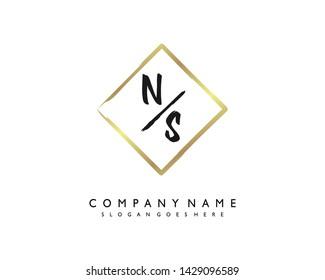 initials letter NS handwriting logo vector template