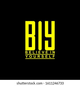 Initials Logo. BIY Logo Design.  Believe in Yourself