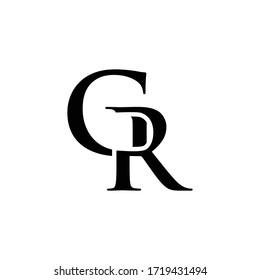 initials logo GR vector letter