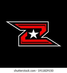 initials logo letter z design vector