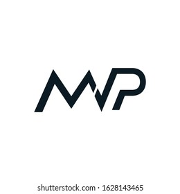 the initials MVP connected logo icon vector