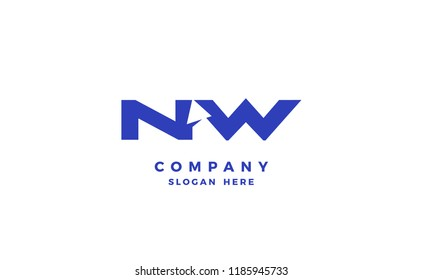 Initials NW with arrow