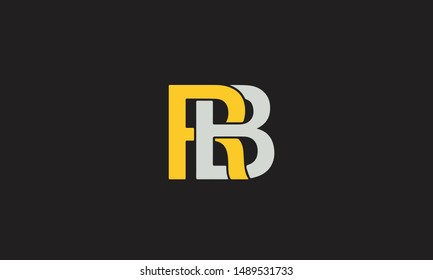 Initials RB or BR R B abstract letter mark monogram logo vector template