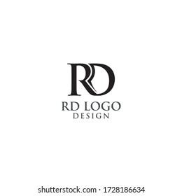 Initials RD Logo Design Vector Illustration
