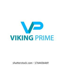 initials vp logo in blue.