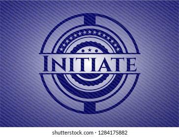 Initiate emblem with denim high quality background