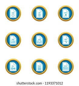 Initiate icons set. Flat set of 9 initiate vector icons for web isolated on white background