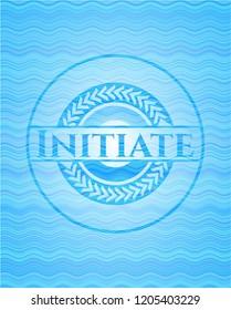 Initiate water style badge.