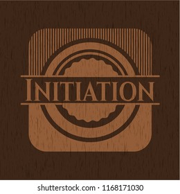 Initiation retro wood emblem