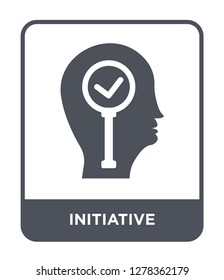initiative icon vector on white background, initiative trendy filled icons from Brain process collection, initiative vector illustration