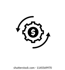 Initiator icon to be used in the business with the glyph style vector