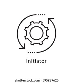 Initiator Vector Line Icon