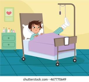 Boy Hospital Stock Vectors Images Vector Art Shutterstock