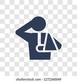 Injury icon. Trendy Injury logo concept on transparent background from Health and Medical collection