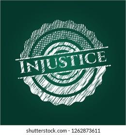 Injustice chalk emblem